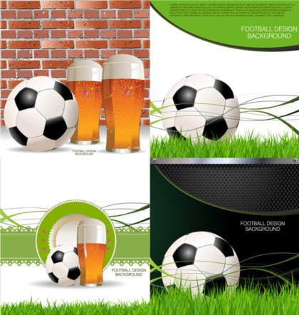 Creative football design background vectors