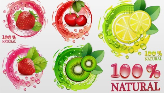 Creative fresh fruit vector design
