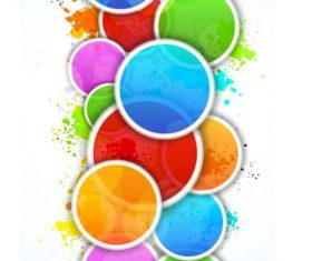 Cricle with colored grunge background vector