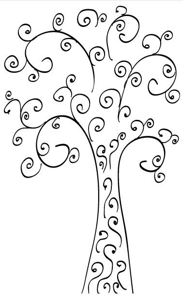 Curly Tree Clip Art Free vector