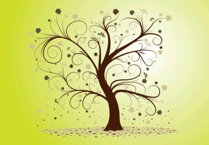 Curly Tree free vectors material