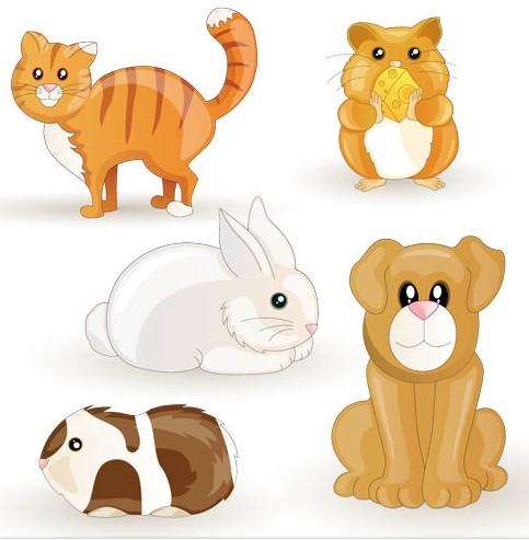 Cute Funny Animals art vector