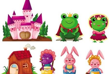 Cute cartoon fairy tale 1 vector