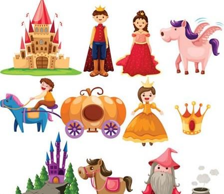 Cute cartoon fairy tale 2 vector