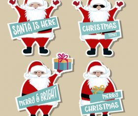 Cute christmas celebration sticker vector illustration 07