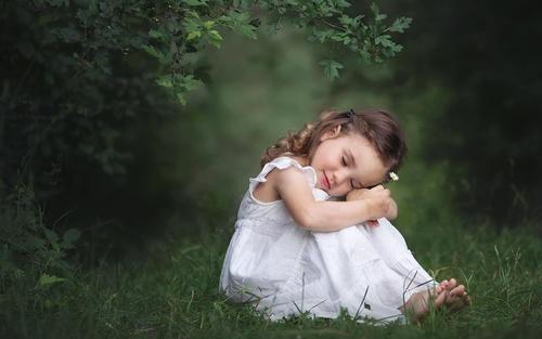 Cute little angel Stock Photo