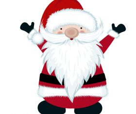 Cute santa cartoon vectors illustration