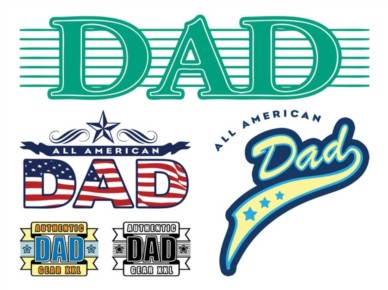 Dad Stickers Graphics vector