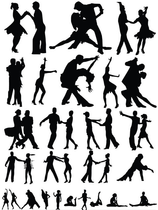 Dancing Couples vectors graphics