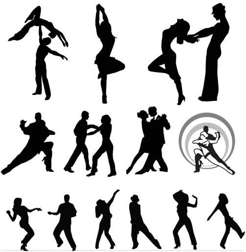 Dancing People Set 4 vector