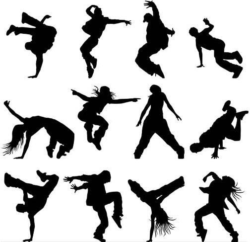 Dancing People Set vectors graphics