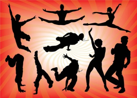 Dancing People Graphics vectors graphic