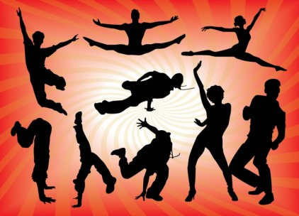 Dancing People Graphics vectors material