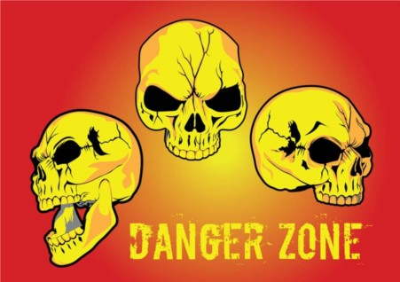 Danger Zone vector set