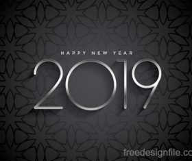 Dark 2019 new year festival background vector