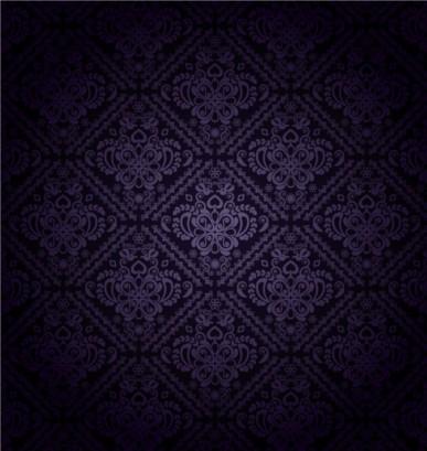 Dark Purple Pattern background set vector