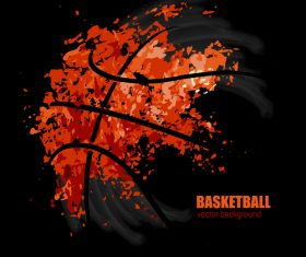 Dark basketball abstract background vectors
