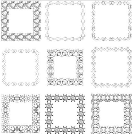Decorative Vintage Frames 2 vectors graphic