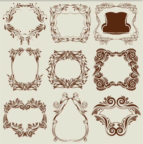 Decorative Vintage Frames 20 vector material