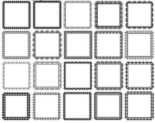 Decorative Vintage Frames 21 vectors