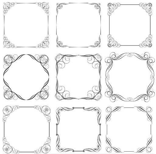 Decorative Vintage Frames 23 shiny vector