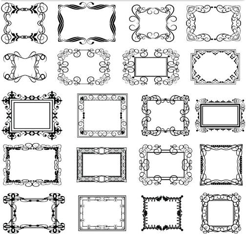 Decorative Vintage Frames 25 vector