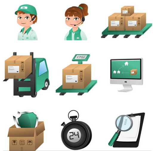Delivery Shiny Icons vector
