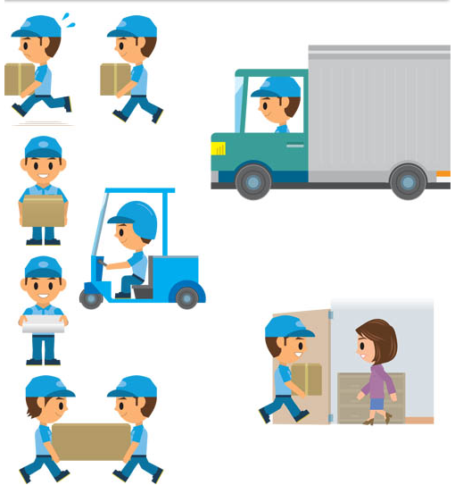 Delivery Shiny Symbols vector