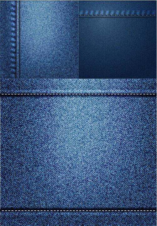Denim Texture Backgrounds vector
