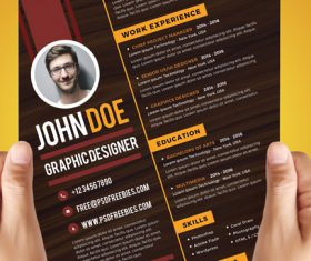 Designer Resume PSD Template Material