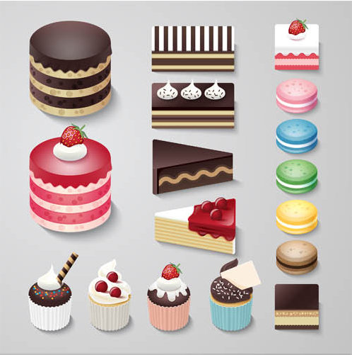 Desserts and Cakes vector