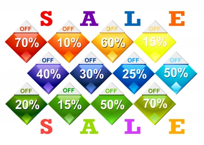 Diamond shape price tags vector