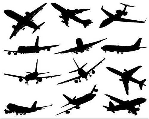Different Aircraft vector graphics