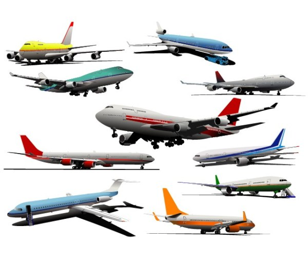 Different Airliner vector