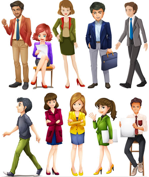 Different Business People vector