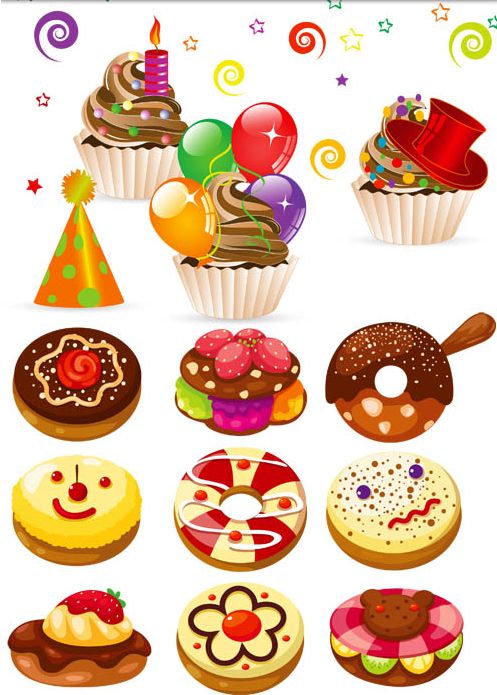 Different Cakes 3 vector
