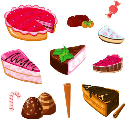 Different Cakes Mix 2 vector