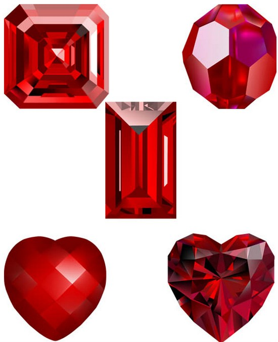 Different Crystals vector