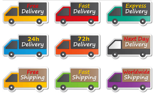 Different Delivery Labels Art vector