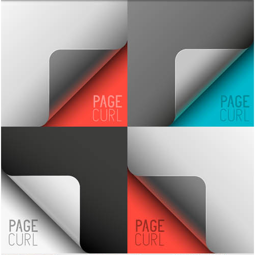 Different Page Corners 2 vector