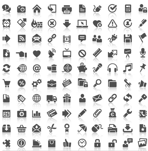 Different Silhouette Icons 3 vector material