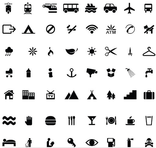 Different Silhouette Icons 4 vector
