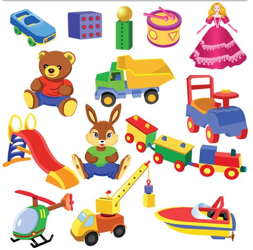 Different Toys Vector design vector