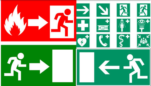 Different Warning Signs vector design