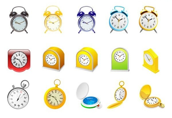 Different alarm clock vector