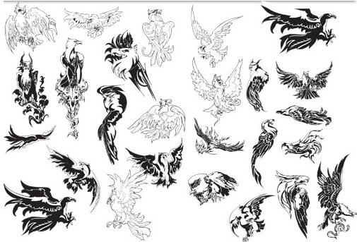 Different eagles free design vector