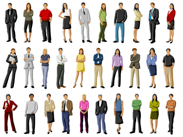 Different occupations people 1 vector