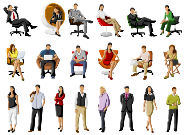 Different occupations people 2 vector