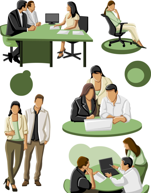 Different occupations people 3 vector