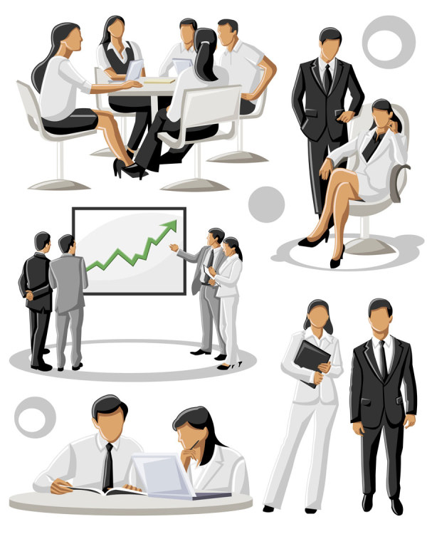 Different occupations people 4 vector